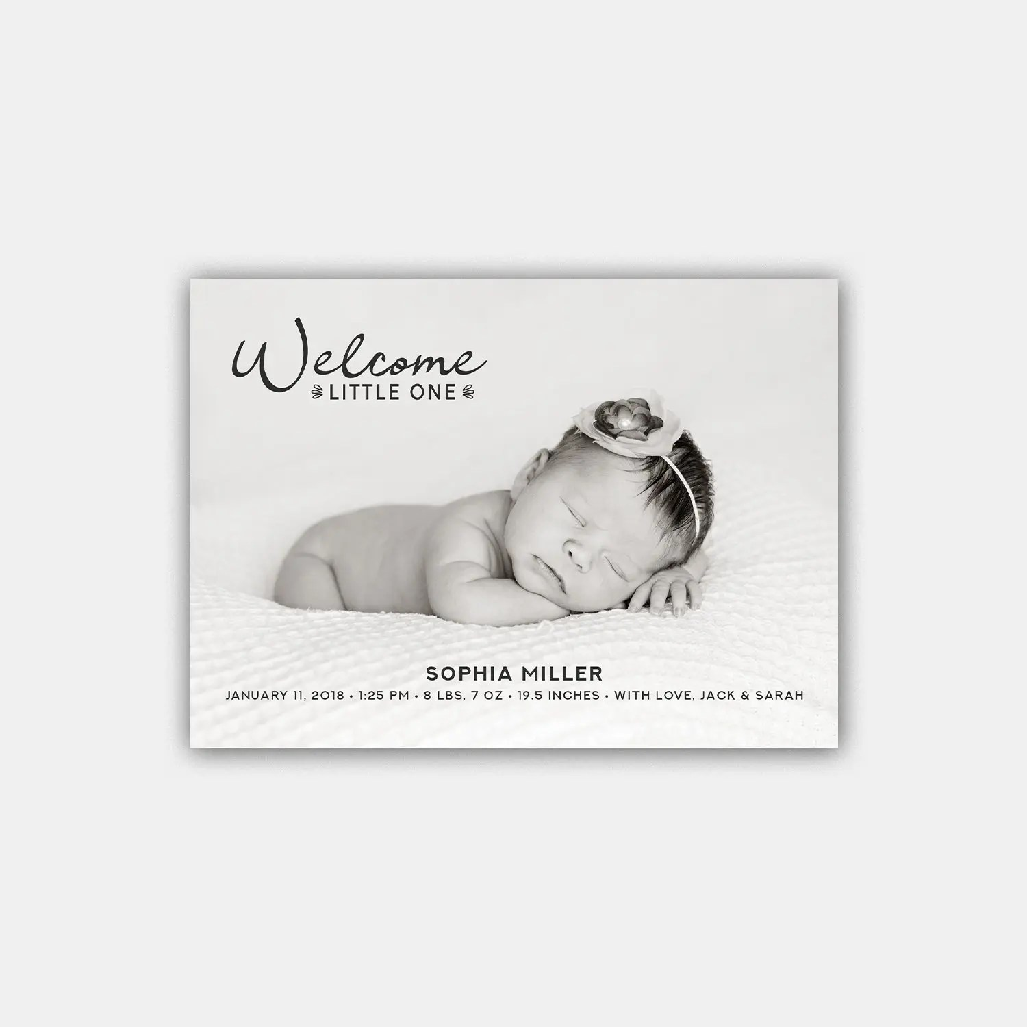 welcome little one birth announcement template