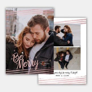 Rose Gold Christmas Card Template