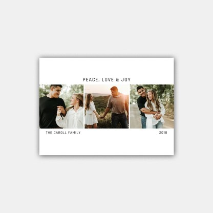 Simple Merry Christmas Card Template