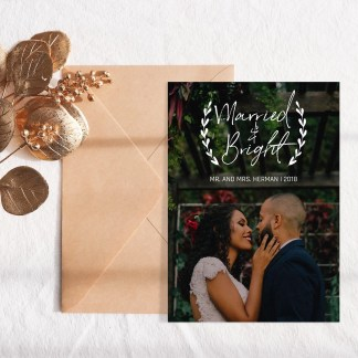 Married Bright Christmas Card Template