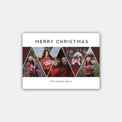 Merry Triangles Christmas Card Template