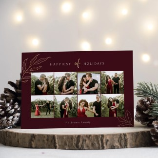Happiest Holidays Christmas Card Template