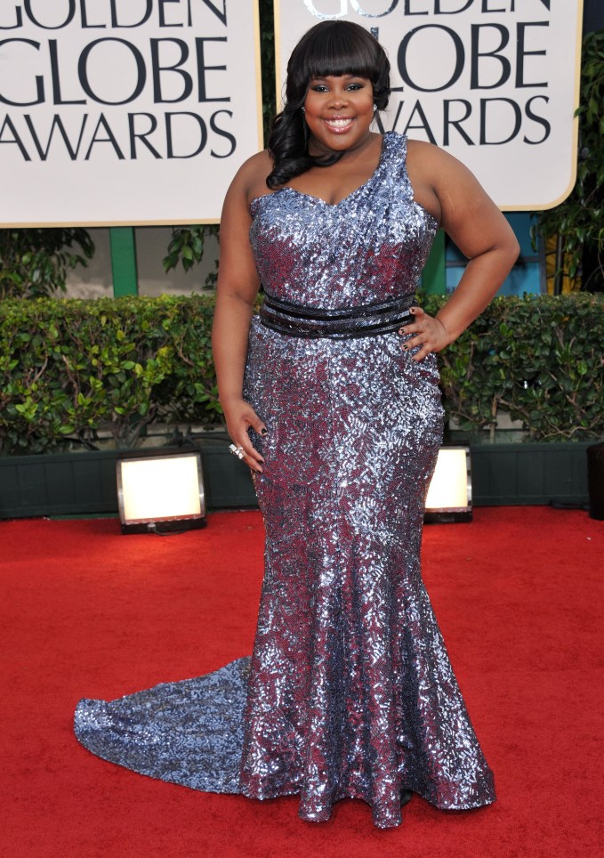 A2F Best Dressed: Amber Riley in Oliver Tolentino