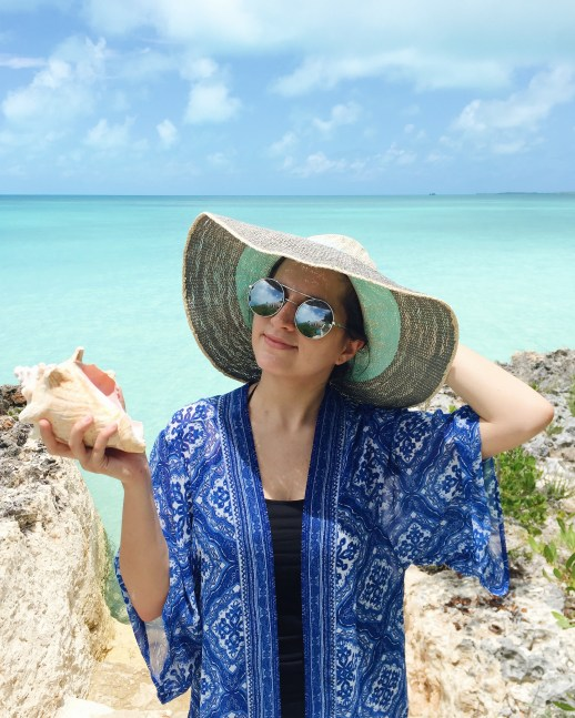 A2F Turks and Caicos Dania and conch shell