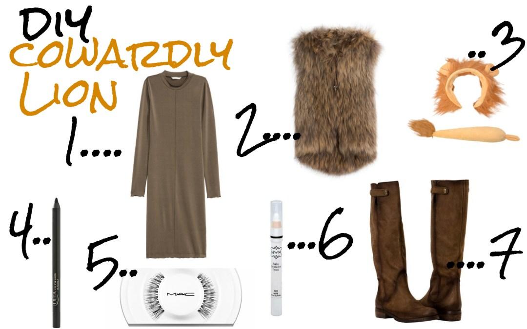 A2F DIY Cowardly Lion collage