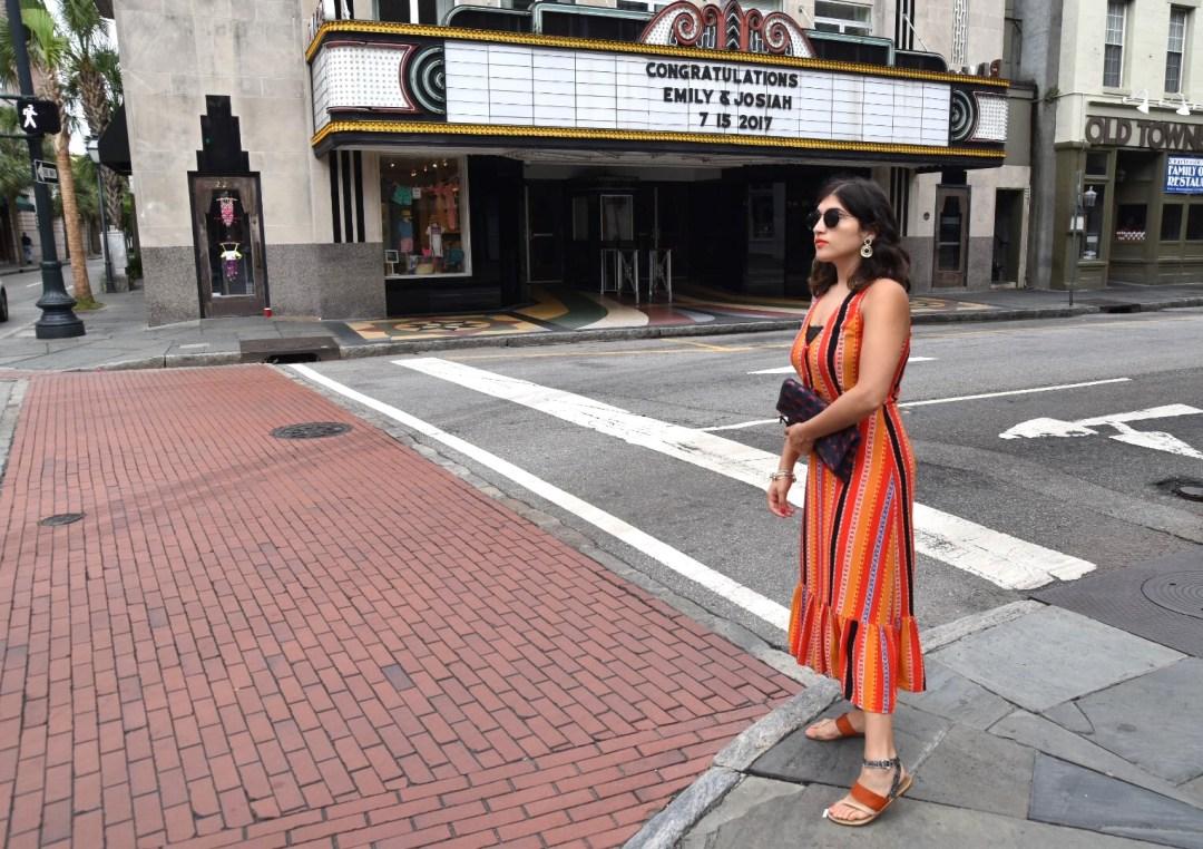 Aya wearing Elsa Fine dress Charleston SC