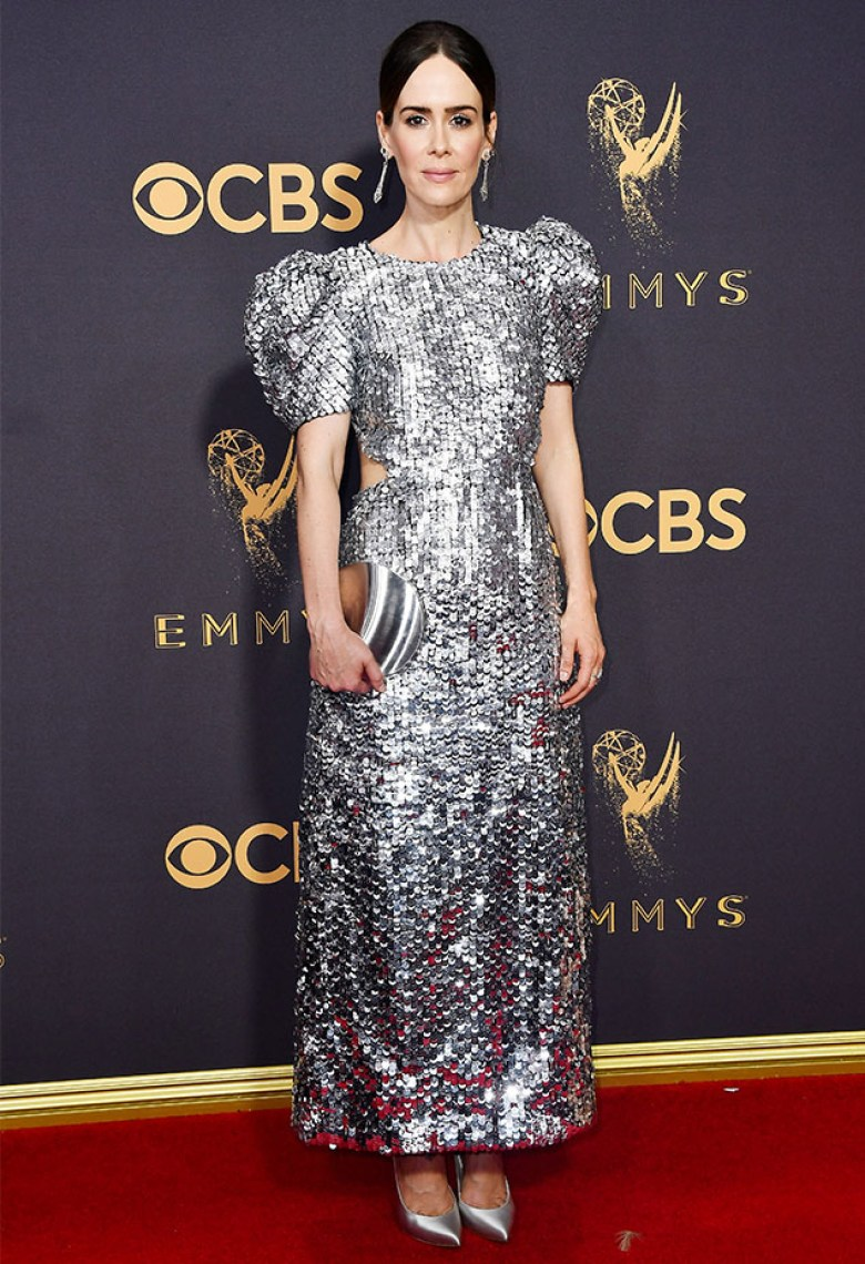 A2F Best Dressed: Sarah Paulson in Carolina Herrera