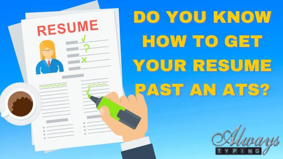 get your resume past an ats