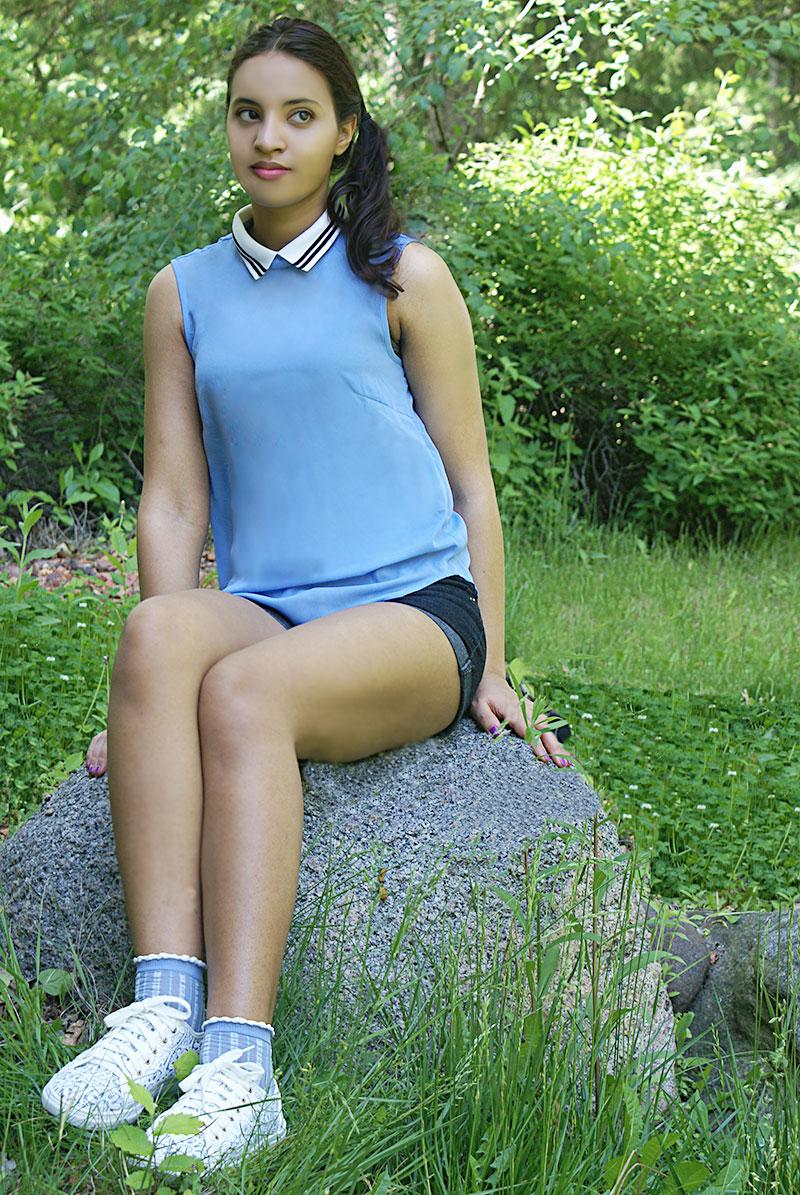 Always Uttori, Blue jean shorts