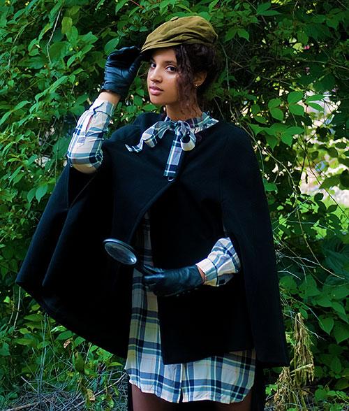 Always Uttori Subtleween: Classic Sherlock. Photo Credit: Mechelle Avey. Alwaysuttori.com. Model: INTJ Fashion Blogger I'mari Avey