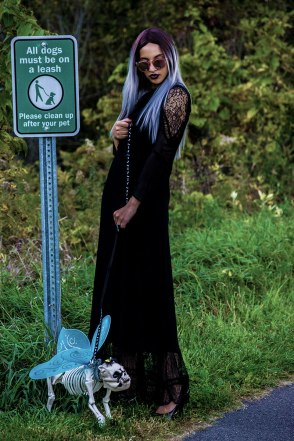 Doggie-do. Photo Credit: Mechelle Avey. Pastel Goth Morticia and Pallicanis. Alwaysuttori.com