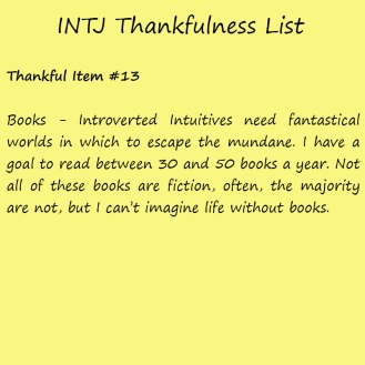 Introvert Life: The Thankful INTJ. Thankful -13