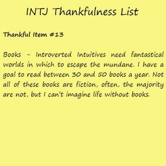 Introvert Life: The Thankful INTJ. Thankful -13