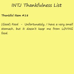 Introvert Life: The Thankful INTJ. Thankful -18