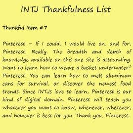 Introvert Life: The Thankful INTJ. Thankful -7