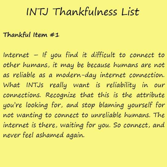 Introvert Life: The Thankful INTJ. Thankful1