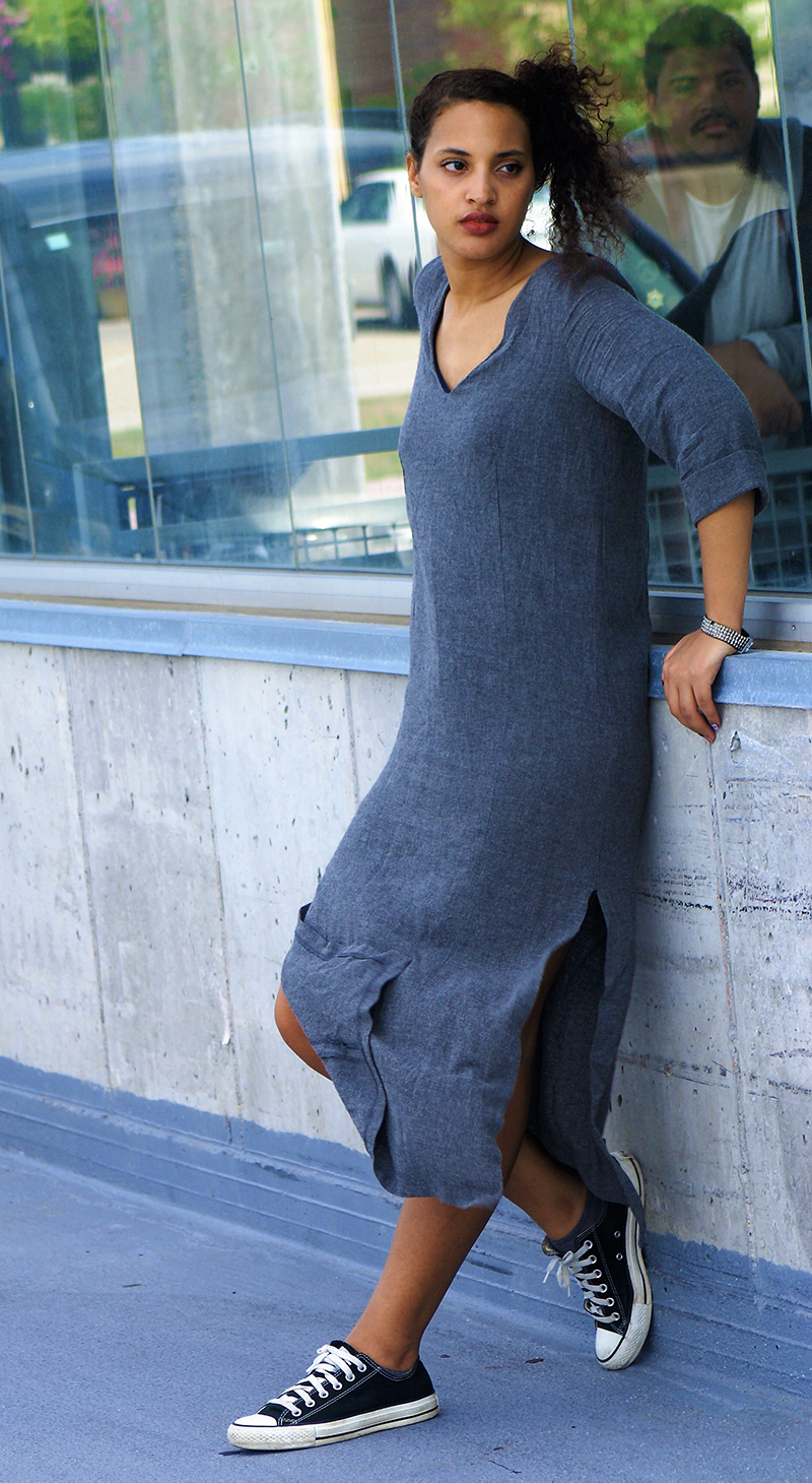 Zara Linen Work Dress, photo 4. Photo Credit: Mechelle Avey.Introvert Life: What to Winter Wear 3. Alwaysuttori.com