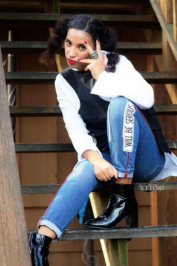 Frayed But Cool, P3. Photo Credit: Mechelle Avey. Always Uttori Spring Denim Look 4. Alwaysuttori.com