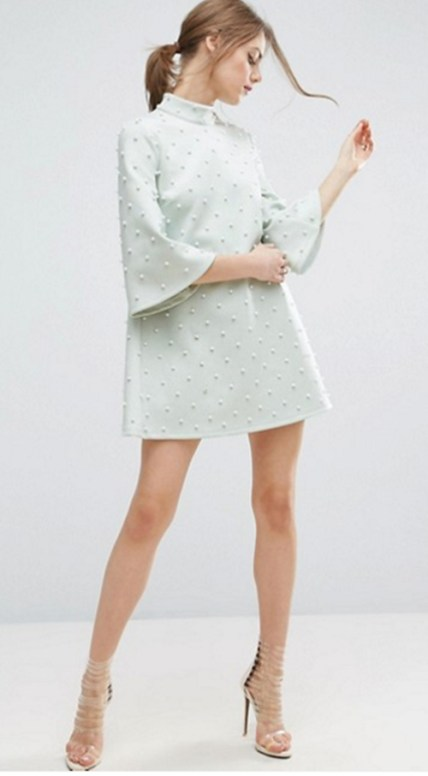 Pearl Shift Mini, ASOS. Wedding Guest Fashion Guide for the 21st Century Girl. Alwaysuttori.com