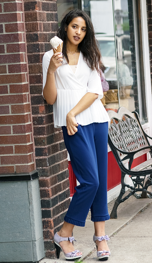 Fresh White and Blue, Look 6. Photo Credit: Mechelle Avey. Fresh White and Blue Summer Style. Alwaysuttori.com