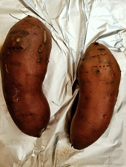 Roasted Sweet Potatoes. Photo Credit: Always Uttori. Girl + Food: Sweet Potato Cheesecake + Brown Betty Cookbook Review. Alwaysuttori.com