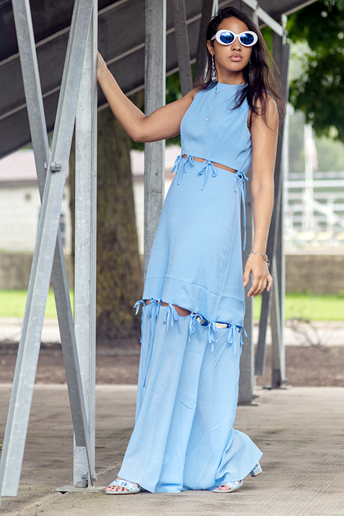 Blue Cut-Out Dress. Photo Credit: Always Uttori. 3 Easy Breezy and Blue Summer Dresses. AlwaysUttori.com