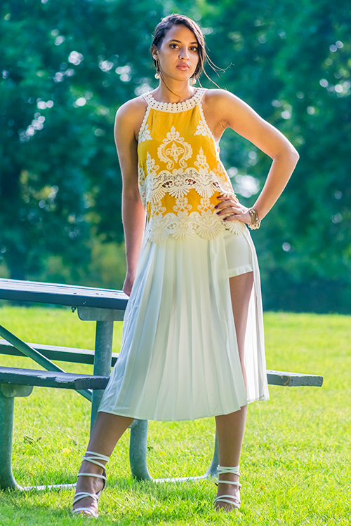 Pleated Skorts. Photo Credit: Always Uttori. Uttori Fashion: 5 Summer Fun to Chic Shorts Looks. Alwaysuttori.com