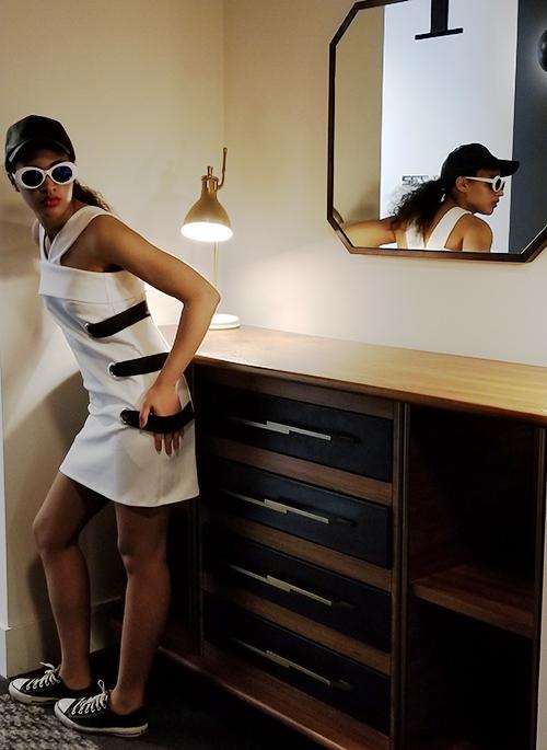 White Asos Dress. Photo Credit: Always Uttori. Midnight Train: Journey to Self. Alwaysuttori.com