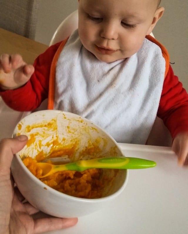 babyvoeding met kabocha popoen