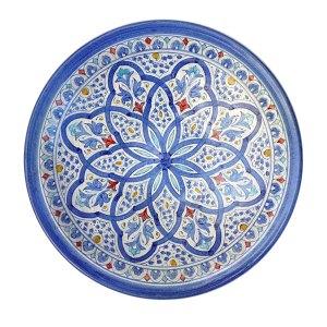 Plato andalusí azul