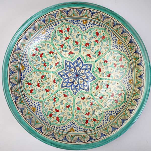 Plate from Al Alndalus handmade decoration