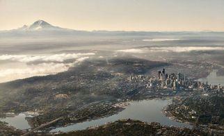 ABD – Seattle'ın kuşbakışı görünümü