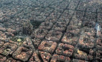 İSPANYA – Barcelona'nın kuşbakışı görünümü