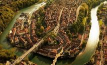 İSVİÇRE – Bern'in kuşbakışı görünümü