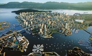 KANADA – Vancouver'ın kuşbakışı görünümü
