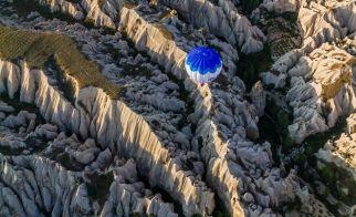 TÜRKİYE – Kapadokya'nın kuşbakışı görünümü