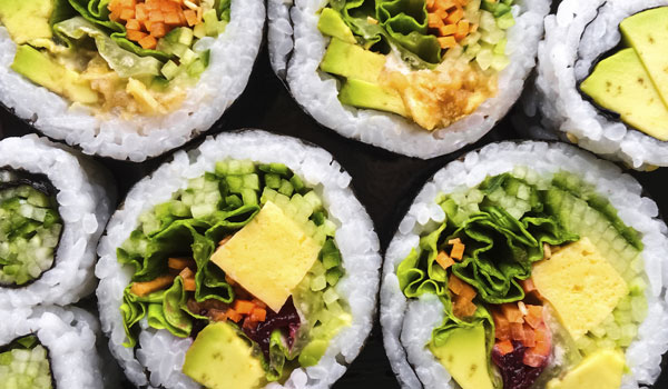 The 5 Healthiest Sushi Rolls and Low Calorie Sushi Options | Vegetable Sushi