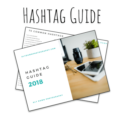 Aly Dawn Photography Hashtag Guide