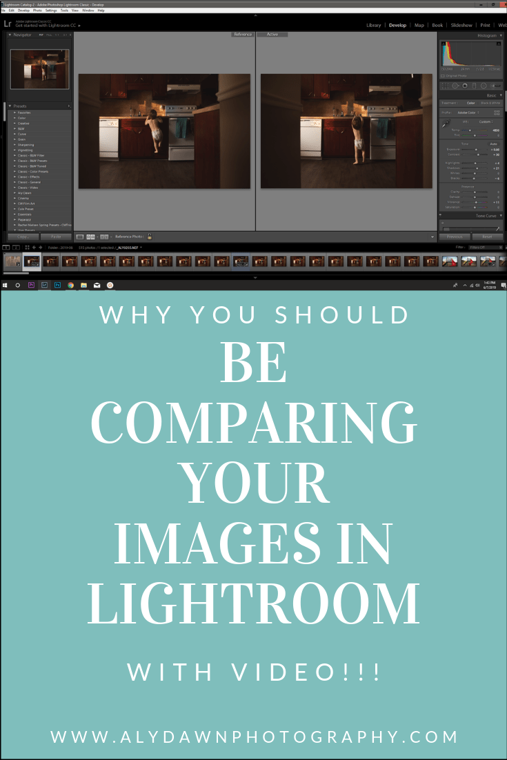 Why You Should Compare Your Images in Lightroom | Aly Dawn Photography