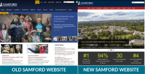 Samford Website Before and After