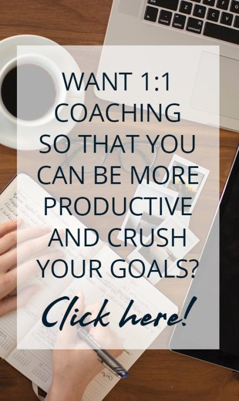 Get personalized productivity coaching from a life coach so you can achieve your goals