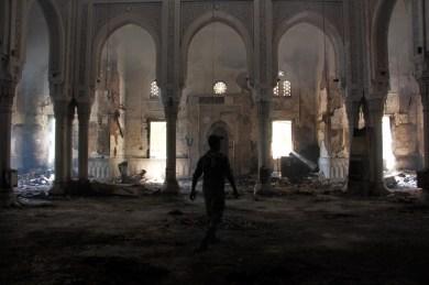 Inside Rabaa mosque