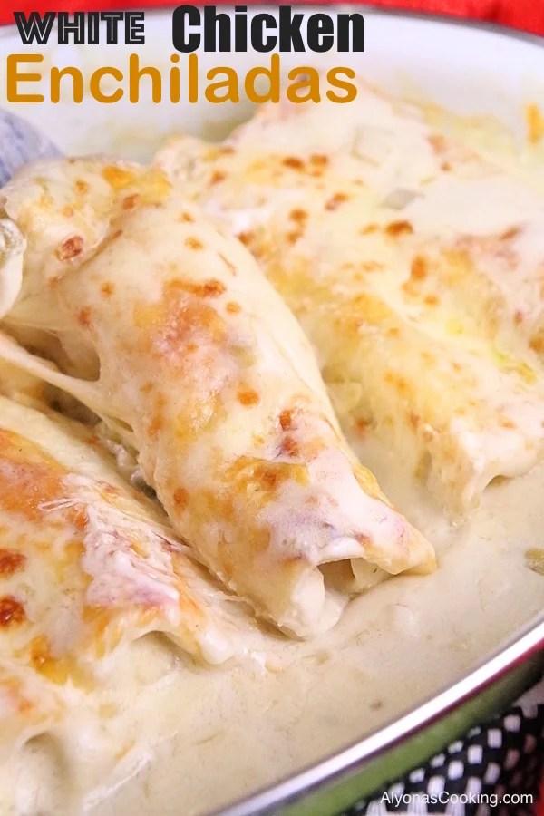 white-chicken-enchiladas