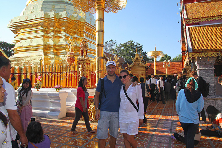 Me and Jean at Doi Suthep Chiang Mai