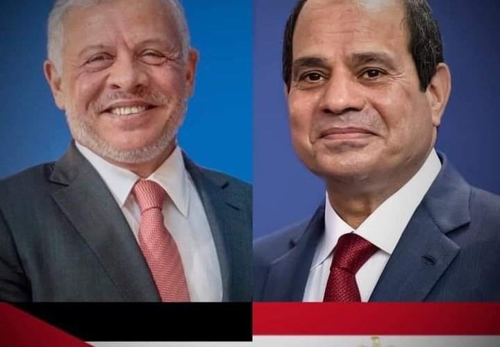 الرئيس السيسي يتلقى اتصالاً هاتفياً من ملك الأردن