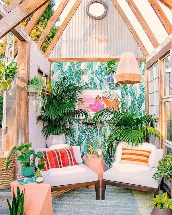 Bohemian-style-outdoor-balcony Chic Bohemian Interior Design Ideas