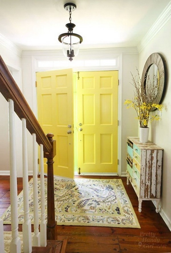 Paint-Your-Doors-In-A-Welcoming-Yellow-5 Decorating With Yellow: How To Brighten Your Space With Yellow