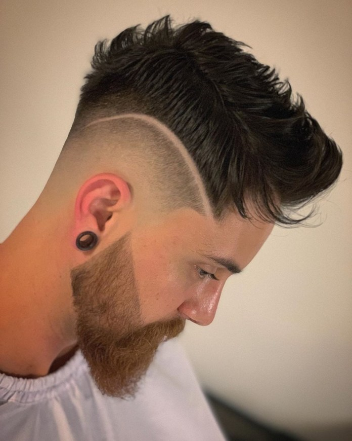 Shaved-Hairline-and-Drop-Tapered-Hairstyle Mens Hair Trends – Mens Hairstyles 2020