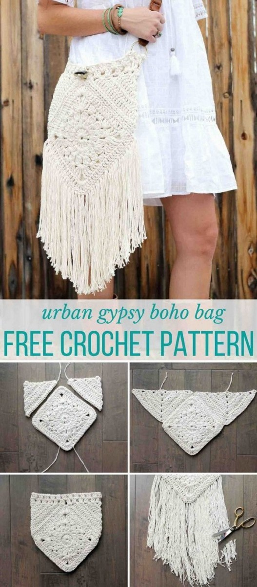 URBAN-NOMAD-BOHO-BAG Easy Crochet Patterns And Projects For Beginners