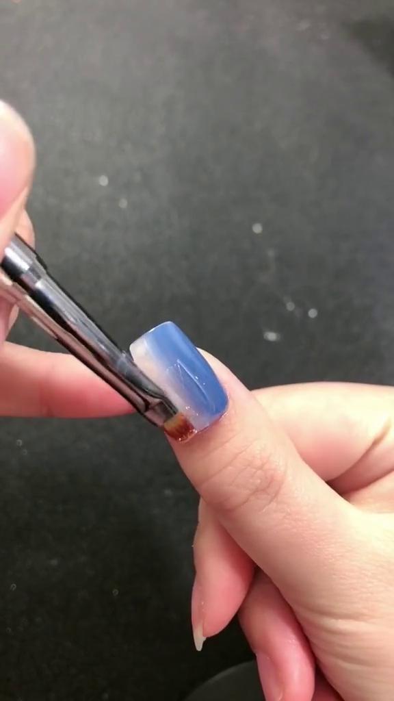 DIY-Simple-Double-color-Nail-Art-6 DIY Simple Double color Nail Art 2020